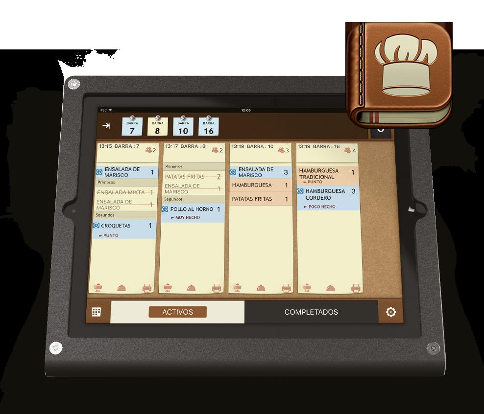 App TPV en iPad / Monitor de cocina Chef