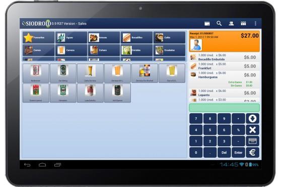 Software Siodroid Pantalla Ventas